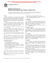 ASTM D2497-01 10.4.2001 - Standard Tolerances for Man-Made Organic-Base Filament Single Yarns