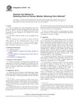 ASTM D3104-14a 1.10.2014 - Standard Test Method for Softening Point of Pitches (Mettler Softening Point Method)