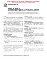 ASTM D4590-00 10.12.2000 - Standard Test Method for Colorimetric Determination of p-tert-Butylcatechol In Styrene Monomer or AMS (alpha-Methylstyrene) by Spectrophotometry