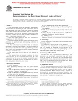 ASTM D5731-02 10.11.2002 - Standard Test Method for Determination of the Point Load Strength Index of Rock