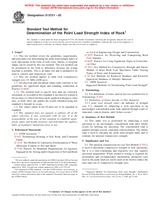 ASTM D5731-05 1.11.2005 - Standard Test Method for Determination of the Point Load Strength Index of Rock