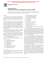 ASTM E1578-06 1.9.2006 - Standard Guide for Laboratory Information Management Systems (LIMS)