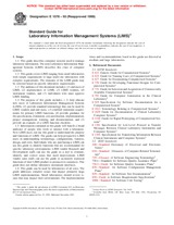 ASTM E1578-93(1999) 10.8.1999 - Standard Guide for Laboratory Information Management Systems (LIMS)