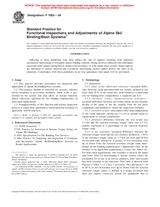 ASTM F1063-04 1.8.2004 - Standard Practice for Functional Inspections and Adjustments of Alpine Ski/Binding/Boot Systems