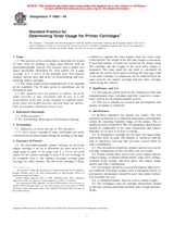 ASTM F1856-04 1.5.2004 - Standard Practice for Determining Toner Usage for Printer Cartridges