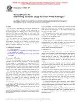 ASTM F2632-07 1.2.2007 - Standard Practice for Determining the Toner Usage for Color Printer Cartridges