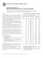 ASTM A1006/A1006M-00 10.1.2000 - Standard Specification for Steel Line Pipe, Black, Plain End, Laser Beam Welded