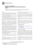ASTM D5384-14 1.6.2014 - Standard Test Methods for Chlorine in Used Petroleum Products (Field Test Kit Method)