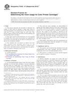 ASTM F2632-07(2013)e1 1.4.2013 - Standard Practice for Determining the Toner Usage for Color Printer Cartridges