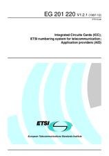 ETSI EG 201220-V1.2.1 31.12.1997