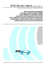 ETSI EN 301489-9-V1.2.1 30.11.2001