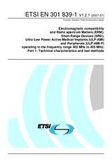 ETSI EN 301839-1-V1.2.1 23.7.2007