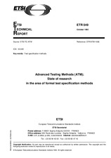 ETSI ETR 049-ed.1 15.10.1992 - Advanced Testing Methods (ATM); State of research in the area of formal test specification methods