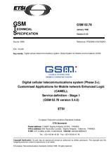 ETSI GTS GSM 02.78-V5.4.0 15.1.1988