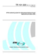 ETSI TR 101220-V1.1.1 30.7.1997
