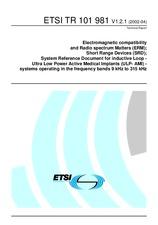 ETSI TR 101981-V1.2.1 19.4.2002