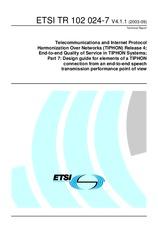 ETSI TR 102024-7-V4.1.1 4.9.2003