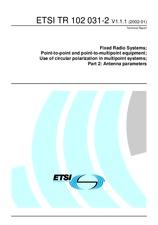 ETSI TR 102031-2-V1.1.1 18.1.2002