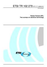 ETSI TR 102279-V1.1.1 27.1.2004