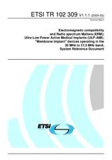 ETSI TR 102309-V1.1.1 11.5.2004