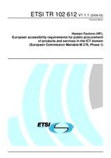 ETSI TR 102612-V1.1.1 26.3.2009