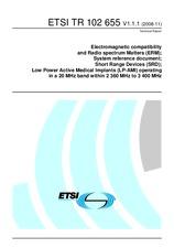 ETSI TR 102655-V1.1.1 25.11.2008