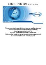 ETSI TR 187023-V1.1.1 15.3.2012