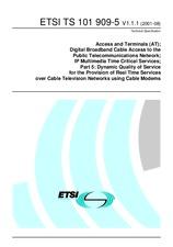 ETSI TS 101909-5-V1.1.1 10.8.2001