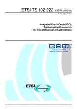 ETSI TS 102222-V3.0.0 26.5.2000