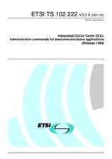 ETSI TS 102222-V3.2.0 22.5.2001