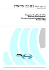 ETSI TS 102222-V3.7.0 11.10.2005