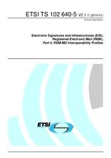 ETSI TS 102640-5-V2.1.1 18.1.2010