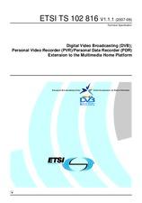 ETSI TS 102816-V1.1.1 18.9.2007