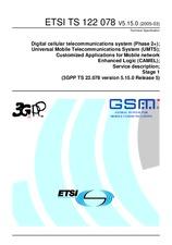 ETSI TS 122078-V5.15.0 31.3.2005