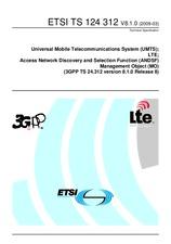 ETSI TS 124312-V8.1.0 26.3.2009