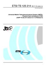 ETSI TS 125214-V6.11.0 21.12.2006