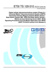 ETSI TS 129010-V5.0.0 30.6.2002 - Digital cellular telecommunications system (Phase 2+); Universal Mobile Telecommunications System (UMTS); Information Element Mapping between Mobile Station - Base Station System (MS - BSS) and Base Station System - Mobil