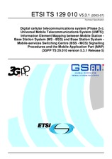 ETSI TS 129010-V5.3.1 30.6.2003 - Digital cellular telecommunications system (Phase 2+); Universal Mobile Telecommunications System (UMTS); Information Element Mapping between Mobile Station - Base Station System (MS - BSS) and Base Station System - Mobil