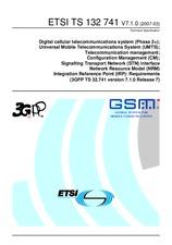 ETSI TS 132741-V7.1.0 31.3.2007