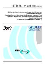 ETSI TS 144035-V4.0.0 15.5.2001