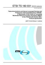 ETSI TS 183031-V2.0.0 5.2.2008