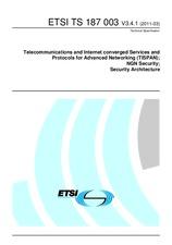 ETSI TS 187003-V3.4.1 31.3.2011