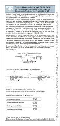 Form- und Lagetolerierung nach DIN EN ISO 1101; Teil 2: 2D/3D-Darstellung inkl. dimensionelle Tolerierung Faltblatt mit Auszügen aus der Norm 15.1.2016