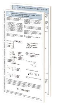 Form- und Lagetolerierung nach DIN EN ISO 1101; Paket: Teil 1 + Teil 2 Faltblätter mit Auszügen aus der Norm 19.1.2016