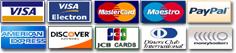 Die Bezahlung der Waren mit Kreditkarten über das Internet